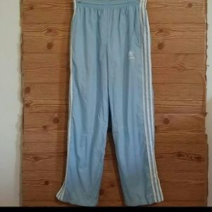 Adidas Trifoil baby blue joggers Small